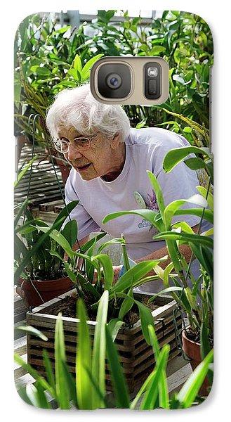Volunteer At A Botanic Garden Galaxy Case by Jim West