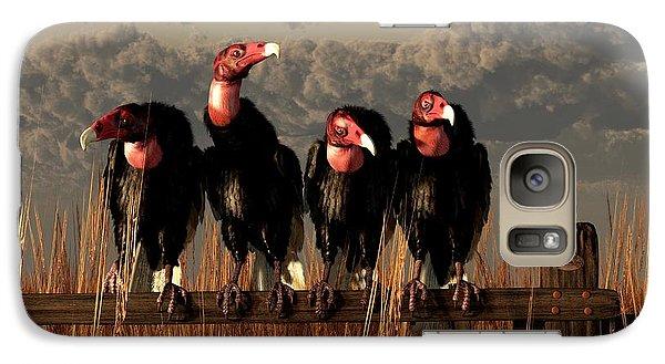 Vultures On A Fence Galaxy Case by Daniel Eskridge