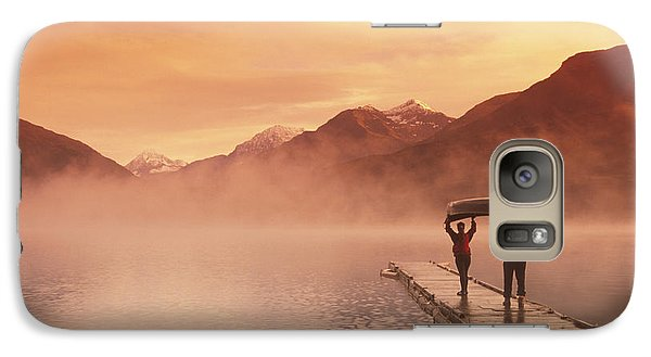 Walking On Dock Robe Lake  Sunrise Sc Galaxy S7 Case by Michael DeYoung
