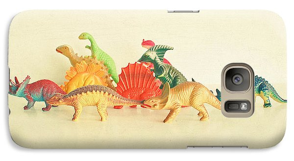 Walking With Dinosaurs Galaxy Case by Cassia Beck