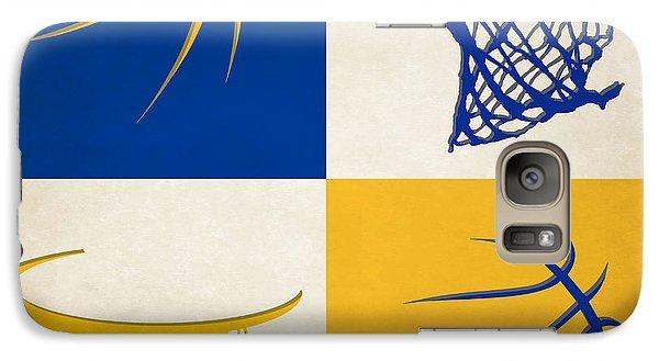 Warriors Ball And Hoop Galaxy Case by Joe Hamilton