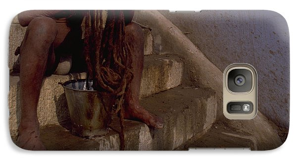 Galaxy Case featuring the photograph Varanasi Hair Wash by Travel Pics