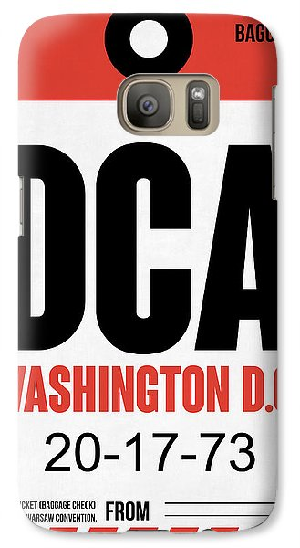 Washington D.c. Airport Poster 1 Galaxy S7 Case by Naxart Studio