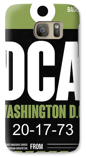 Washington D.c. Airport Poster 2 Galaxy S7 Case by Naxart Studio