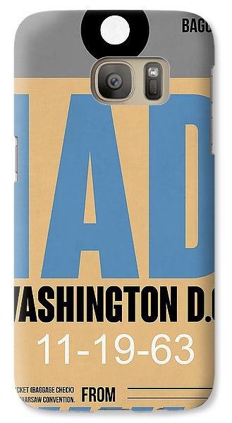 Washington D.c. Airport Poster 3 Galaxy S7 Case by Naxart Studio