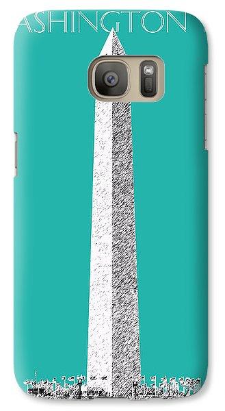 Washington Dc Skyline Washington Monument - Teal Galaxy S7 Case by DB Artist