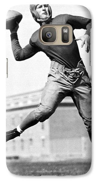 Washington State Quarterback Galaxy S7 Case by Underwood Archives