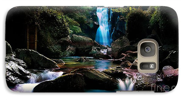 Waterfall And Light Galaxy Case by Marvin Blaine