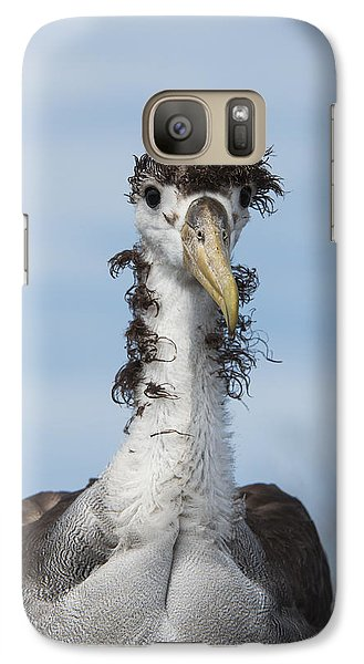 Waved Albatross Molting Juvenile Galaxy Case by Pete Oxford