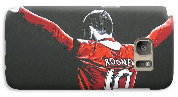Wayne Rooney - Manchester United Fc 2 Galaxy S7 Case by Geo Thomson