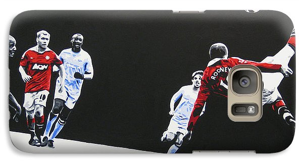 Wayne Rooney - Manchester United Fc Galaxy Case by Geo Thomson