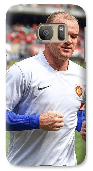Wayne Rooney 5 Galaxy Case by Keith R Crowley