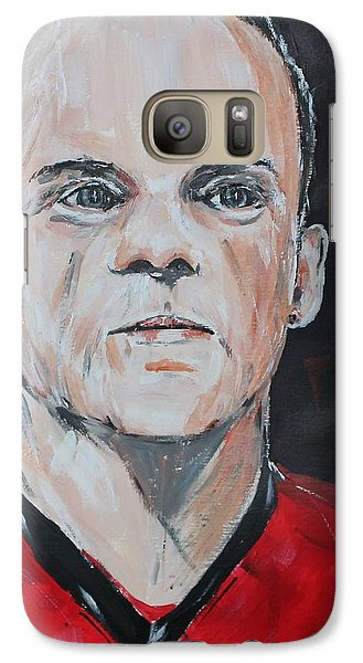 Wayne Rooney Galaxy Case by John Halliday
