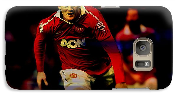 Wayne Rooney Galaxy S7 Case by Marvin Blaine