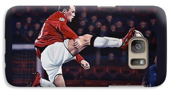 Wayne Rooney Galaxy Case by Paul Meijering