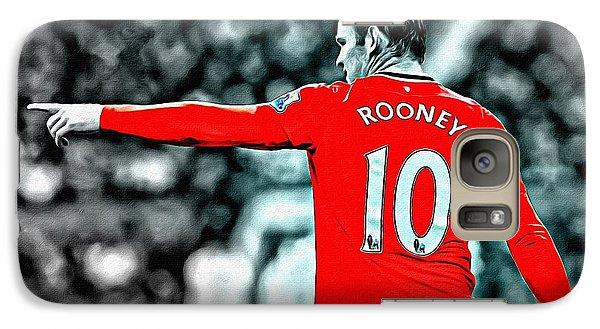 Wayne Rooney Poster Art Galaxy Case by Florian Rodarte