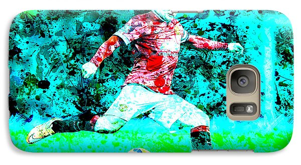 Wayne Rooney Splats Galaxy S7 Case by Brian Reaves