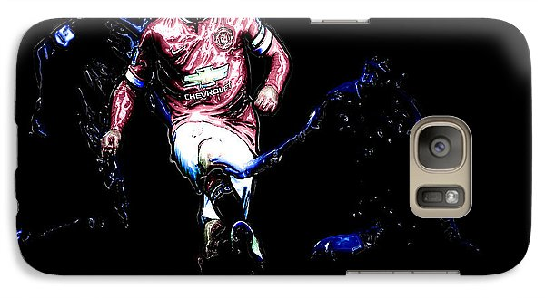 Wayne Rooney Working Magic Galaxy S7 Case by Brian Reaves