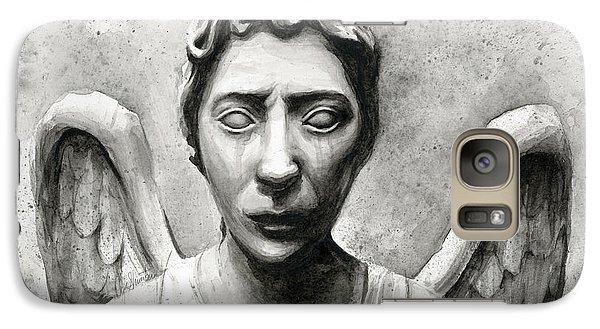 Weeping Angel Don't Blink Doctor Who Fan Art Galaxy S7 Case by Olga Shvartsur