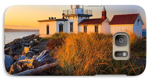 West Point Lighthouse Galaxy Case by Inge Johnsson