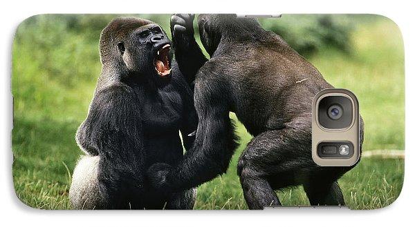 Western Lowland Gorilla Males Fighting Galaxy Case by Konrad Wothe