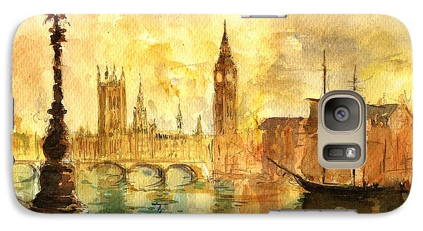Westminster Palace London Thames Galaxy S7 Case by Juan  Bosco