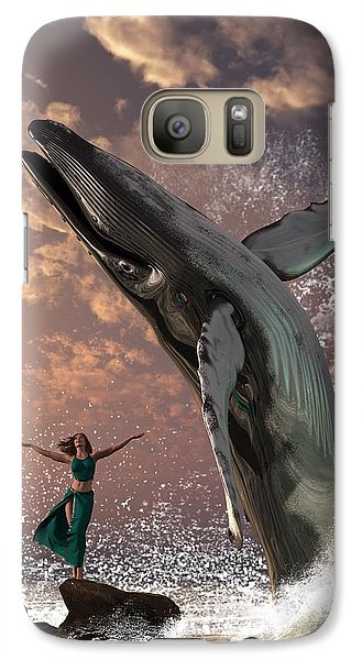 Whale Watcher Galaxy Case by Daniel Eskridge