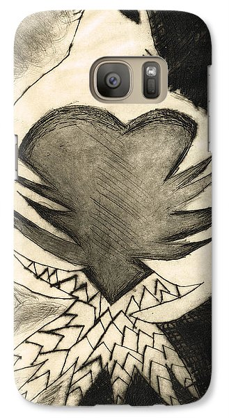 White Dove Art - Comfort - By Sharon Cummings Galaxy S7 Case by Sharon Cummings