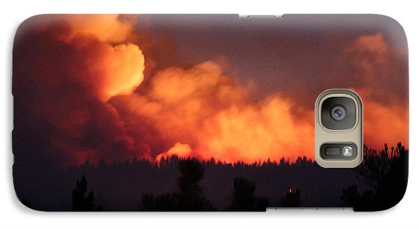 Galaxy Case featuring the photograph White Draw Fire First Night by Bill Gabbert