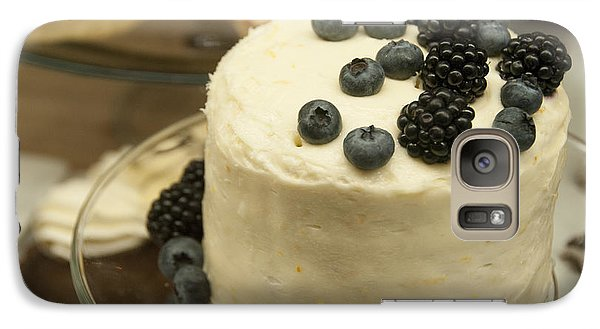 White Frosted Cake With Berries Galaxy Case by Juli Scalzi
