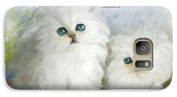 White Persian Kittens  Galaxy S7 Case by Catf