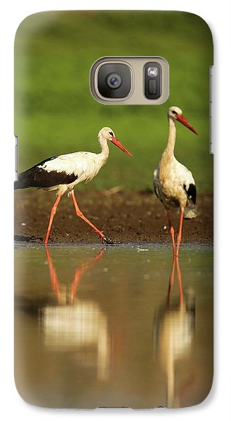 White Stork (ciconia Ciconia) Galaxy S7 Case by Photostock-israel