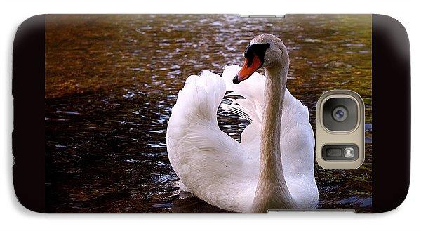 White Swan Galaxy Case by Rona Black