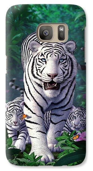 White Tigers Galaxy S7 Case by Jerry LoFaro