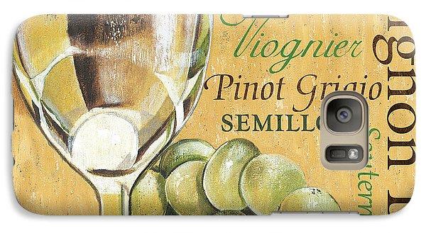 White Wine Text Galaxy Case by Debbie DeWitt