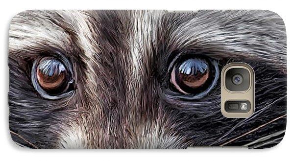 Wild Eyes - Raccoon Galaxy Case by Carol Cavalaris