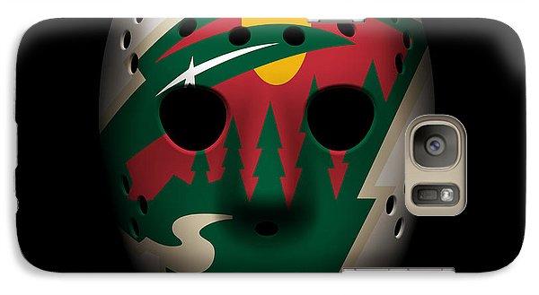 Wild Goalie Mask Galaxy S7 Case by Joe Hamilton