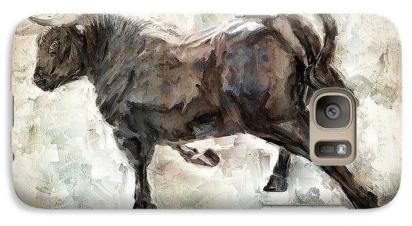 Wild Raging Bull Galaxy S7 Case by Daniel Hagerman