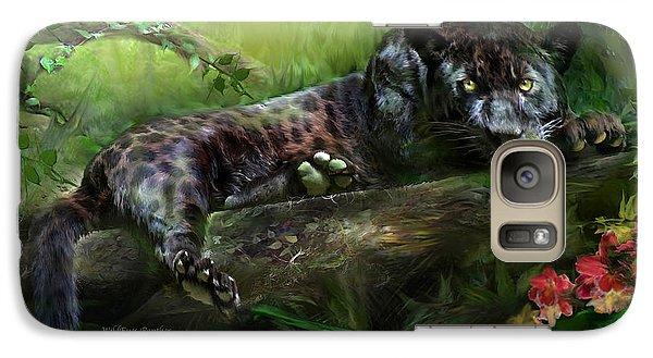 Wildeyes - Panther Galaxy Case by Carol Cavalaris