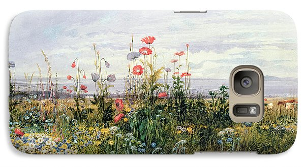 Wildflowers With A View Of Dublin Dunleary Galaxy S7 Case by A Nicholl