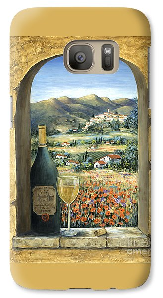 Wine And Poppies Galaxy Case by Marilyn Dunlap