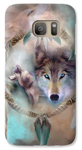 Wolf - Dreams Of Peace Galaxy S7 Case by Carol Cavalaris