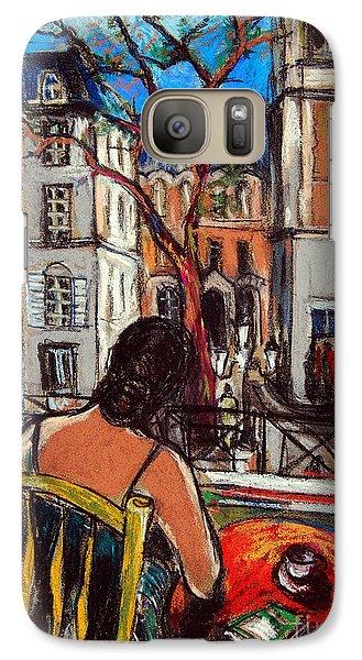 Woman At Window Galaxy Case by Mona Edulesco