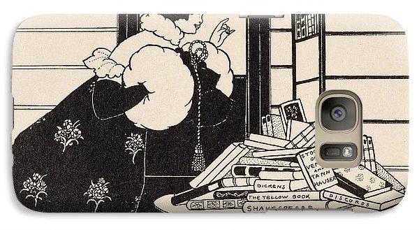 Woman In A Bookshop Galaxy S7 Case by Aubrey Beardsley