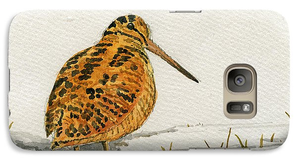 Woodcock Bird Galaxy S7 Case by Juan  Bosco