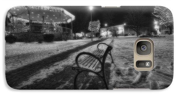 Woodstock Square Xmas Eve Nite Galaxy S7 Case by Sven Brogren