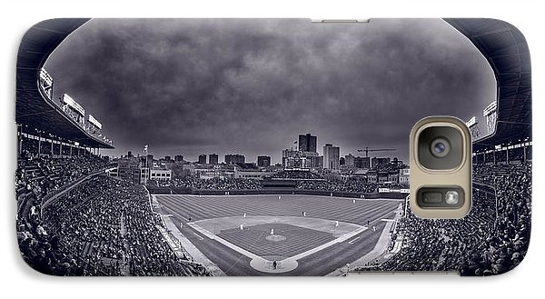 Wrigley Field Night Game Chicago Bw Galaxy S7 Case by Steve Gadomski