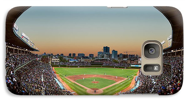 Wrigley Field Night Game Chicago Galaxy S7 Case by Steve Gadomski