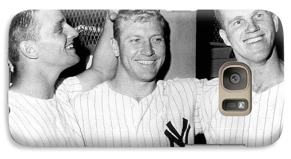 Yankees Celebrate Victory Galaxy Case by Underwood Archives