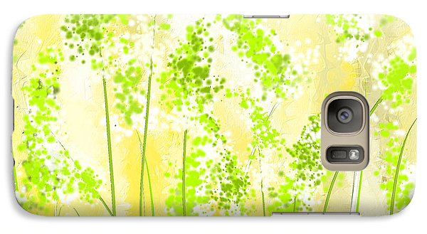 Yellow And Green Art Galaxy Case by Lourry Legarde